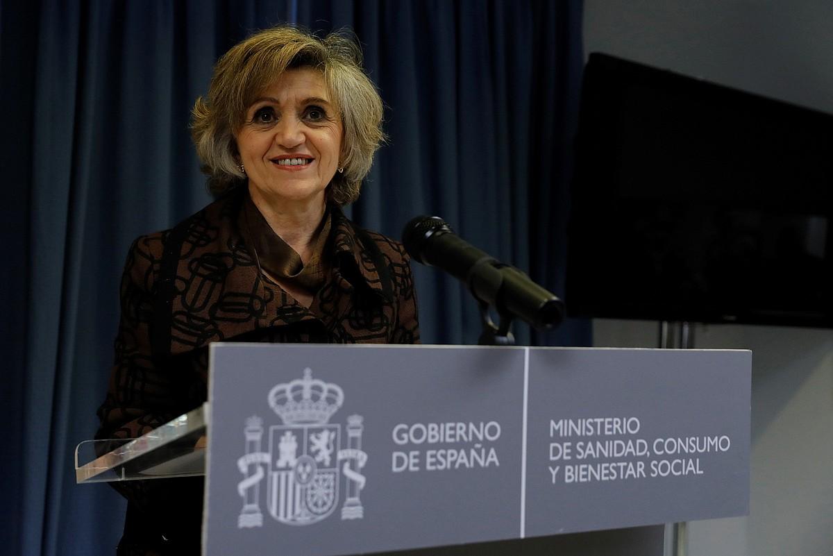 Maria Luisa Carcedo ministroa; berak aurkeztu zuen araudia. ©BALLESTEROS /EFE