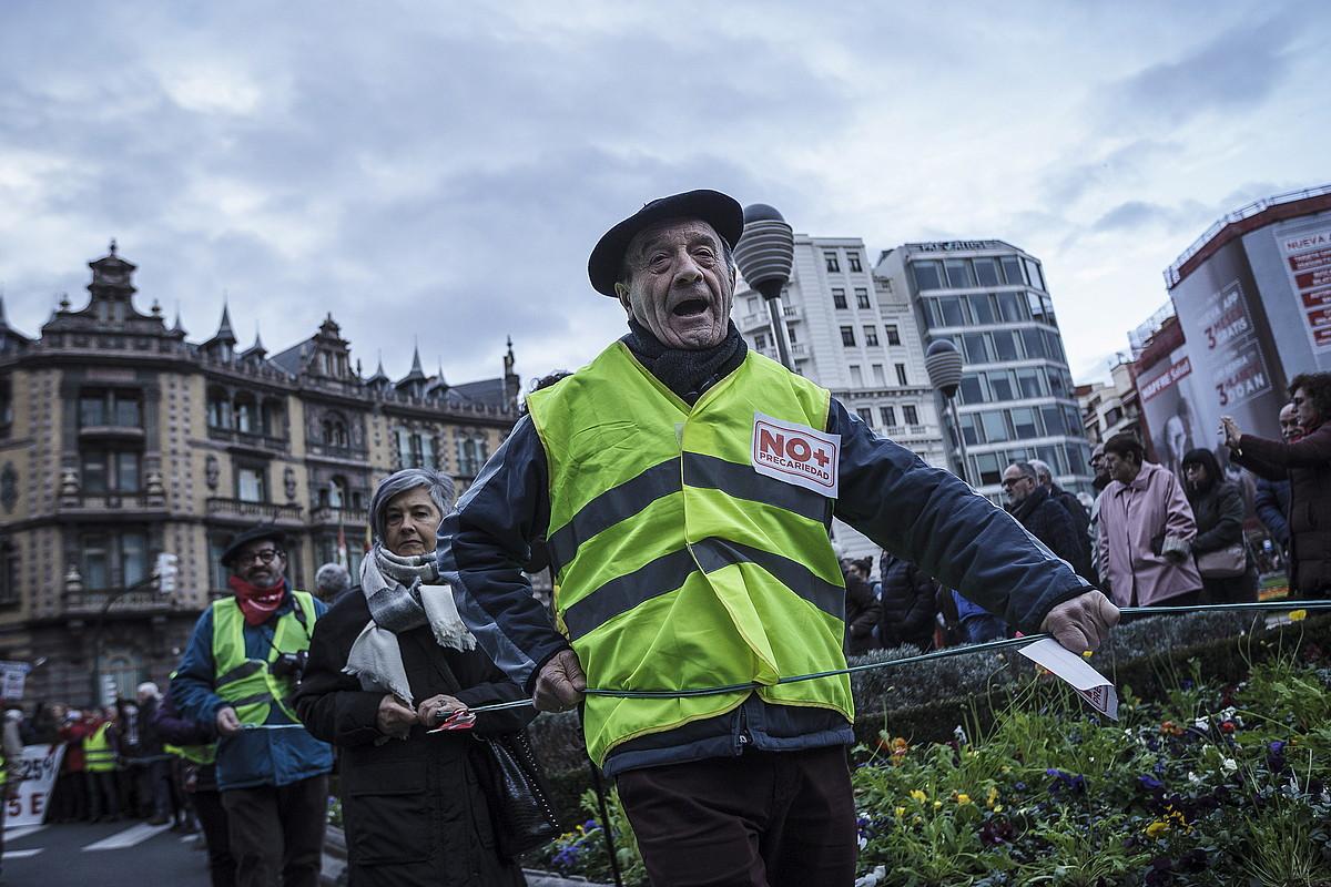 Pentsiodunen manifestazio bat, Bilbon. ©ARITZ LOIOLA / FOKU