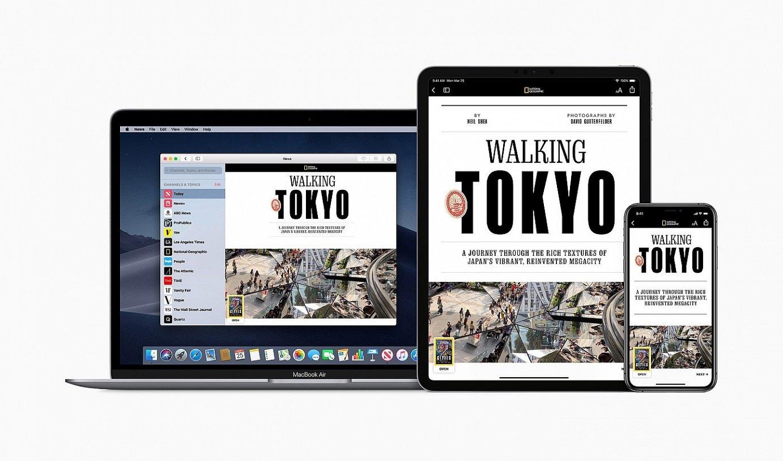 Apple News+ zerbitzu berrian 300 aldizkari baino gehiago egongo dira harpidedunen eskura. ©APPLE INC.
