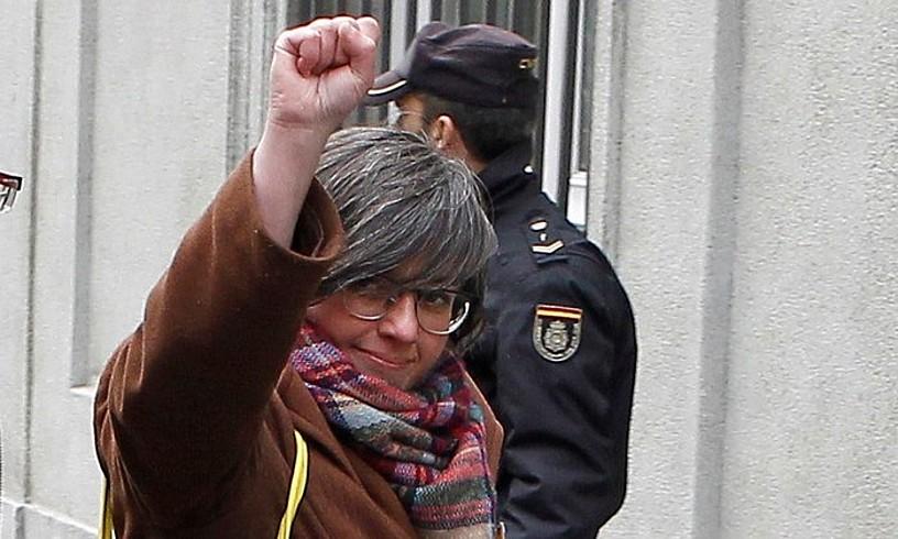 Mireia Boya CUPeko diputatu ohia, Auzitegi Gorenera iristen, iaz. ©EFE