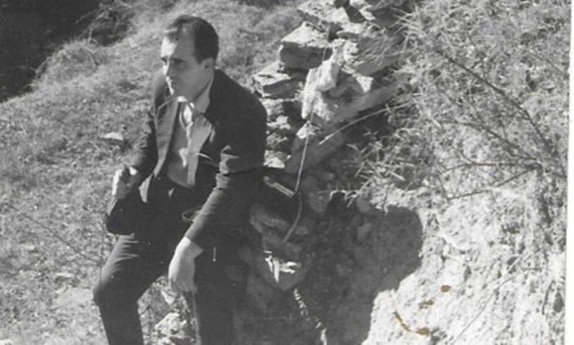 Gizon bat, Santa Katalina monasterioan atseden hartzen, 1962ko neguan.