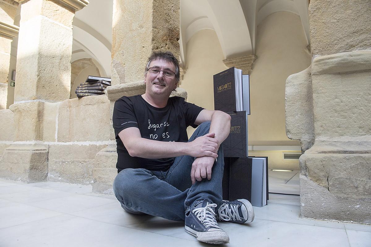 Andoni Luis Aduriz sukaldaria, liburuaren aurkezpenean, Donostian. ©JUAN CARLOS RUIZ / FOKU