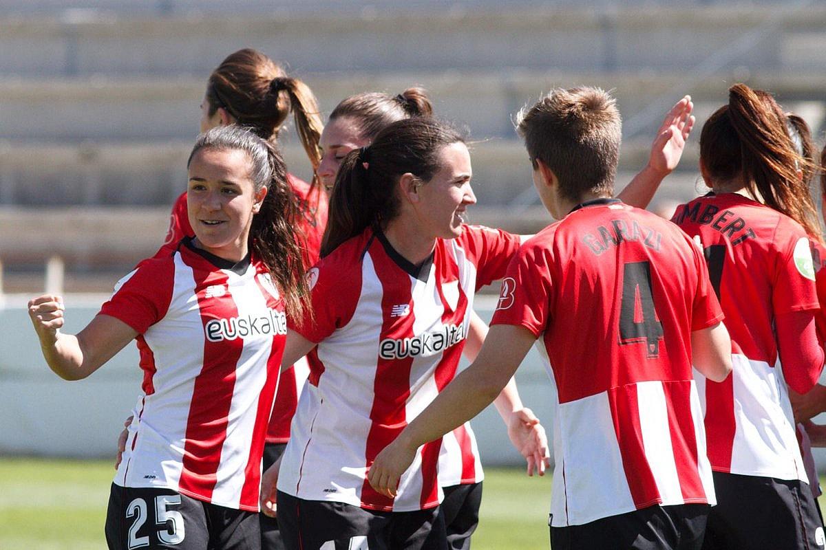 Athleticeko jokalariak, gola ospatzen, atzo, Albaceten.