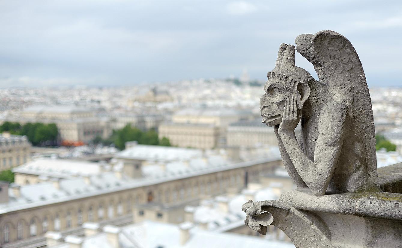 Notre Dameko gargolarik ezagunenetakoa da Stryge. ©BERRIA