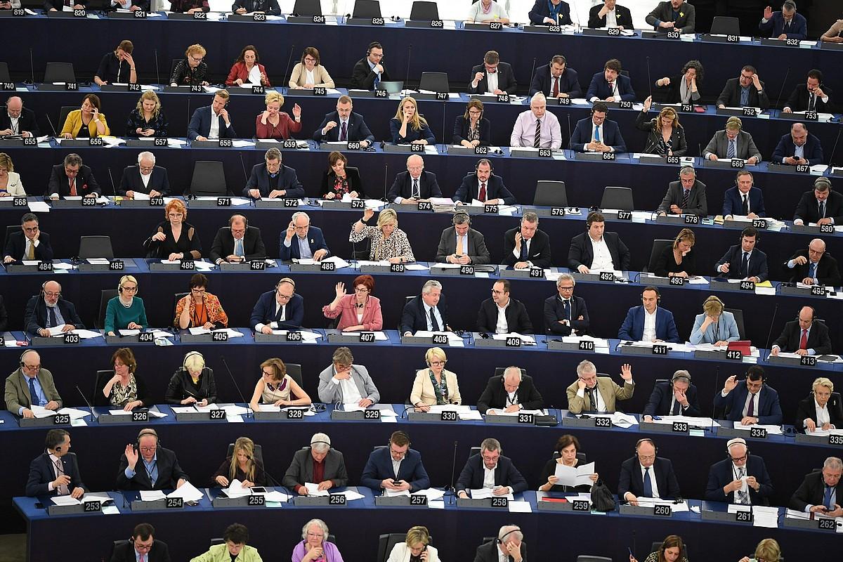 Europarlamentuko saioa, atzo, Estrasburgon. ©PATRICK SEEGER / EFE