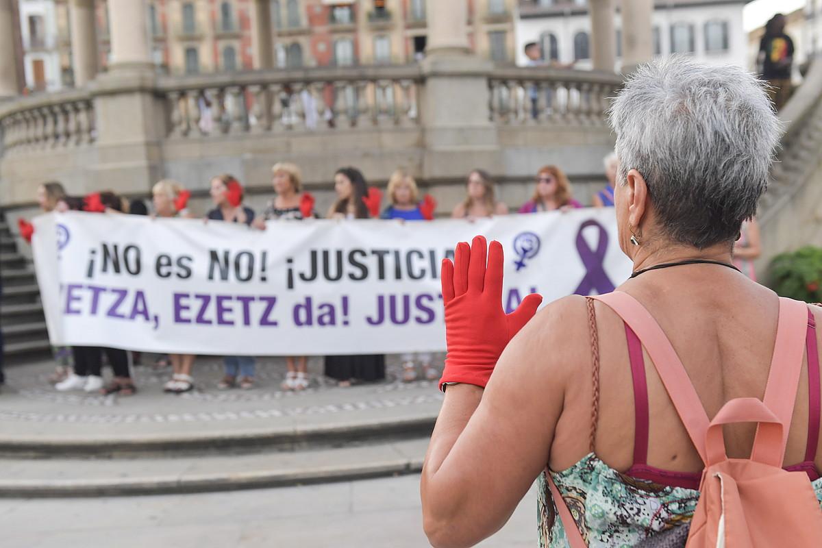 Erasoen aurkako protesta bat, artxiboko irudi batean. ©IDOIA ZABALETA / FOKU
