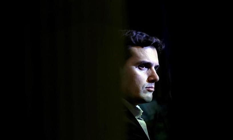 Albert Rivera, liburu baten aurkezpenean, joan den abenduan, Madrilen. / JUAN CARLOS HIDALGO / EFE