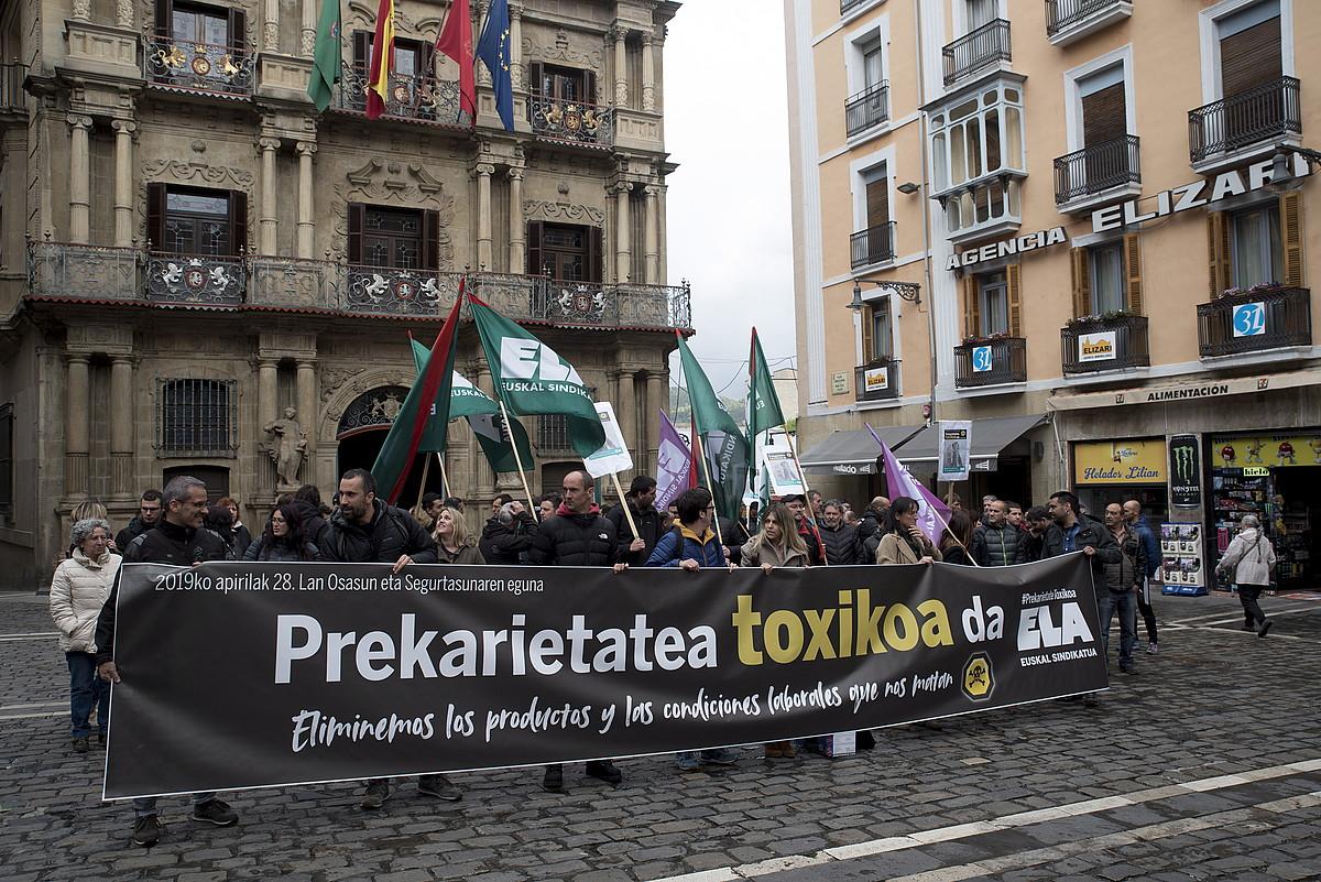 ELAk atzo Iruñean egindako mobilizazioa. ©IÑIGO URIZ / FOKU