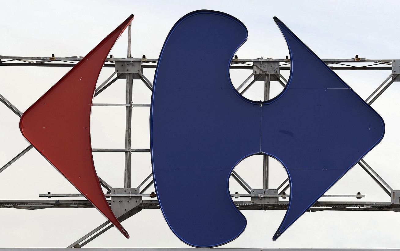 Carrefourren logoa. ©CAROLINE BLUMBERG / EFE