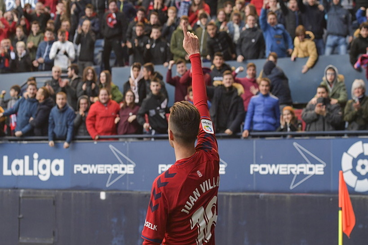 Juan Villar, gol bat ospatzen. 11 sartu ditu denboraldi honetan. ©IDOIA ZABALETA / FOKU