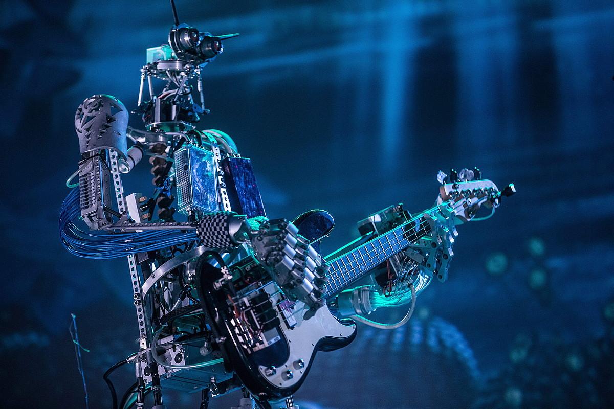 Robotez osatutako lehen heavy metal taldea sortu zuten Alemanian. ©SERGEI ILNITSKY / EFE