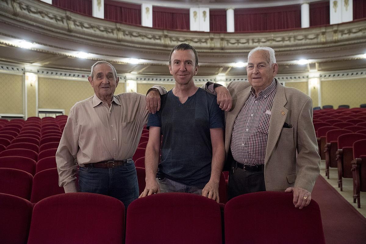 <b>Pamplonesako kideak. </b> Andres Palacios, Juan Mari Garaikoetxea eta Juan Escribano Cañada. ©IÑIGO URIZ / FOKU
