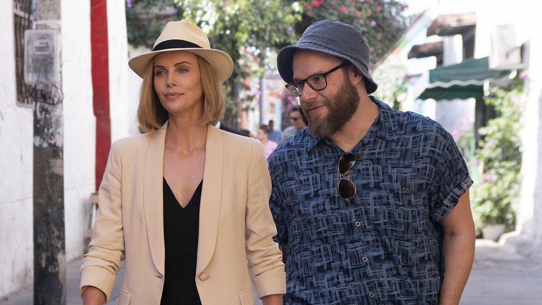 Charlize Theron eta Seth Rogen aktoreak eta filmeko protagonistak, <em>Long Shot</em>-eko eszena batean. ©BERRIA