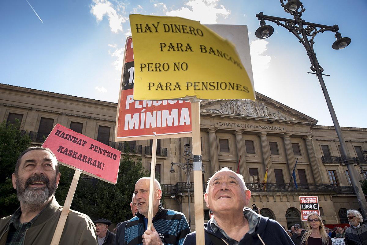Pentsiodunen manifestazioa Iruñean. ©IÑIGO URIZ / FOKU