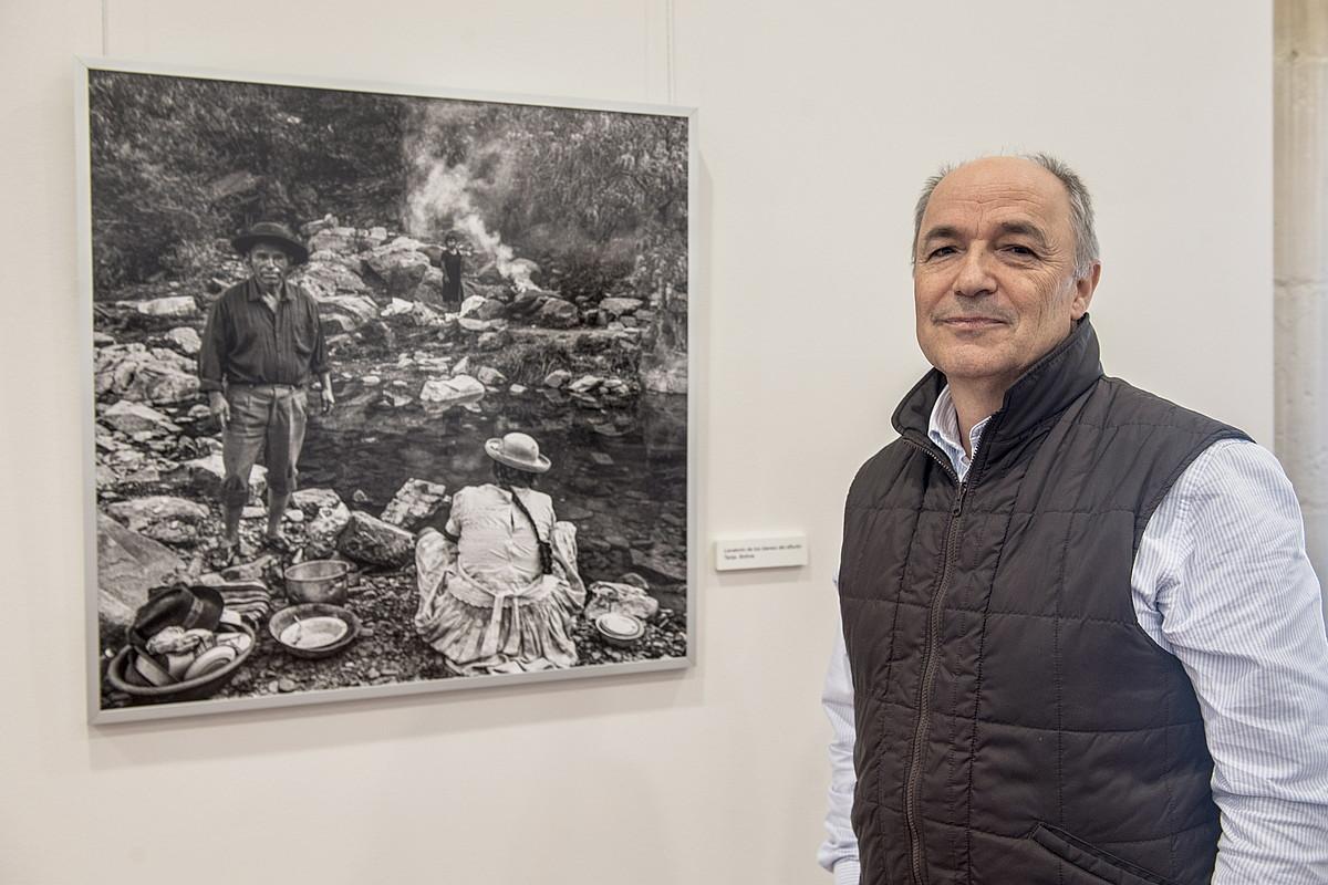 Miguel Bergasa argazkilaria, Donostiako Elizbarrutiko museoan. ©G.R. / FOKU