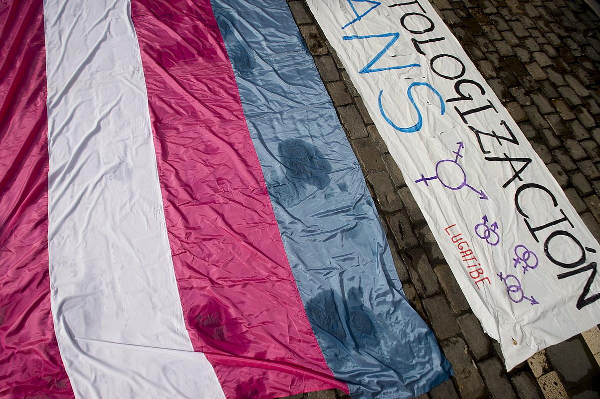 Transexualitatearen despatologizazioaren aurkako protesta bat. ©I. URIZ / FOKU