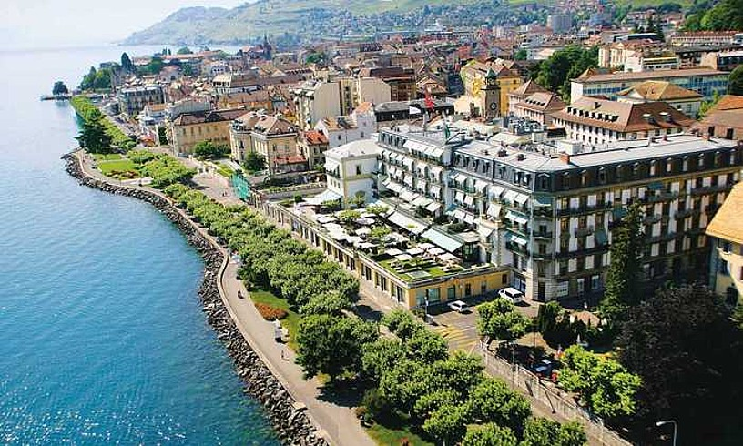 Veveyko (Suitza) Trois Couronnes hotela. Han bildu ziren ETA eta Espainiako Gobernua 1999ko maiatzaren 19an. ©BERRIA