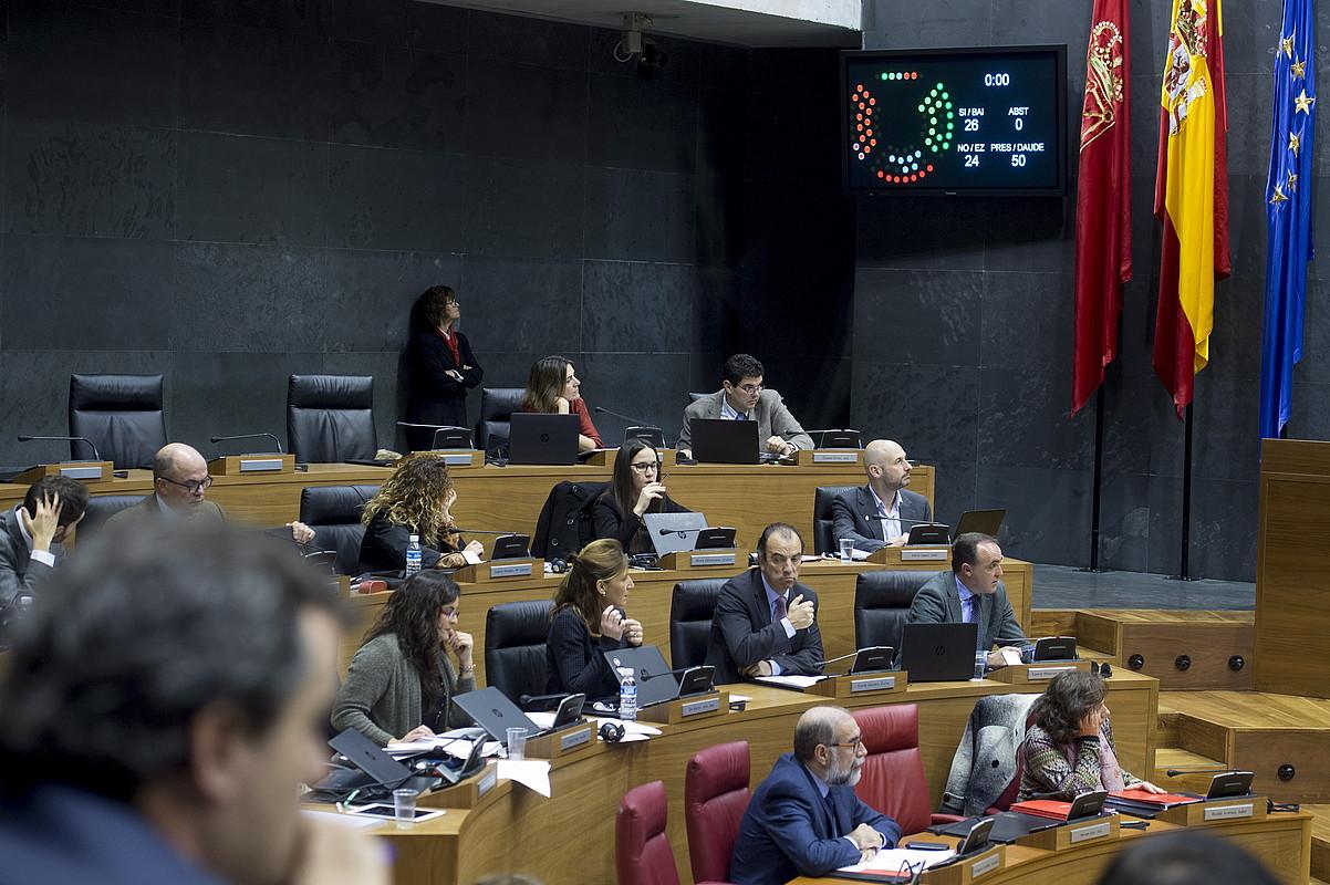 Zerga erreforma 2015eko abenduaren 23an bozkatu zuten. / IÑIGO URIZ / FOKU