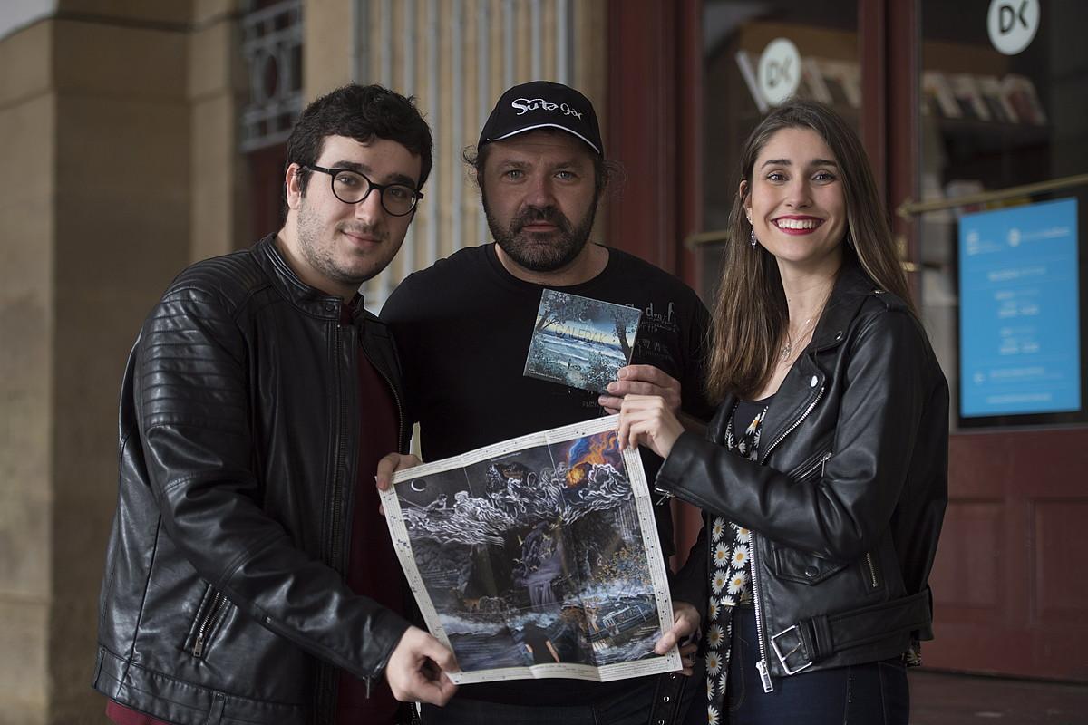 Ignacio Arakistain, Alex Tello eta Lucia Arzallus. ©JUAN CARLOS RUIZ / FOKU