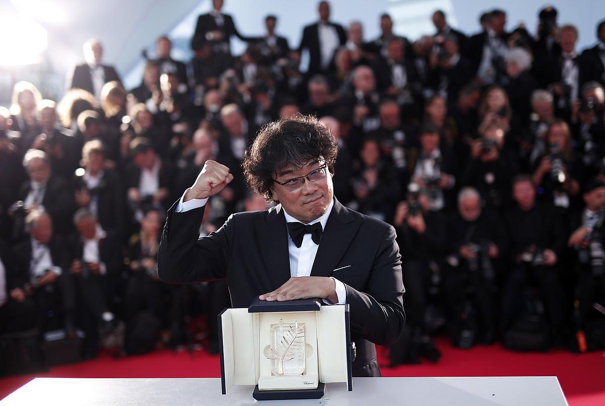 Bong Joon-Ho <em>Parasite</em> filmaren zuzendaria, Urrezko Palma irabazi berritan.