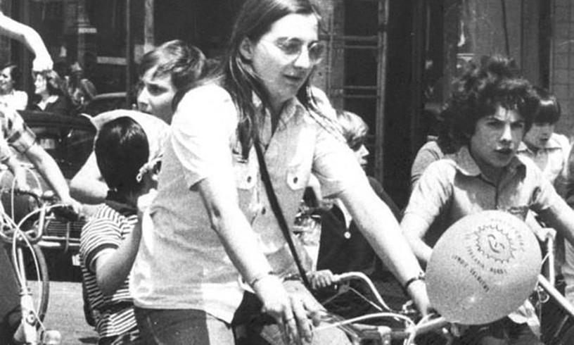 Gladys del Estal, hil aurreko egunean Egiako bizikleta martxan egin zioten argazkian.