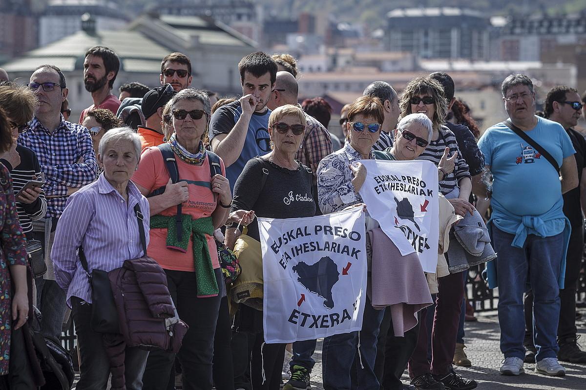 Euskal presoen aldeko mobilizazioa, joan den martxoan, Bilbon. ©A. LOIOLA / FOKU