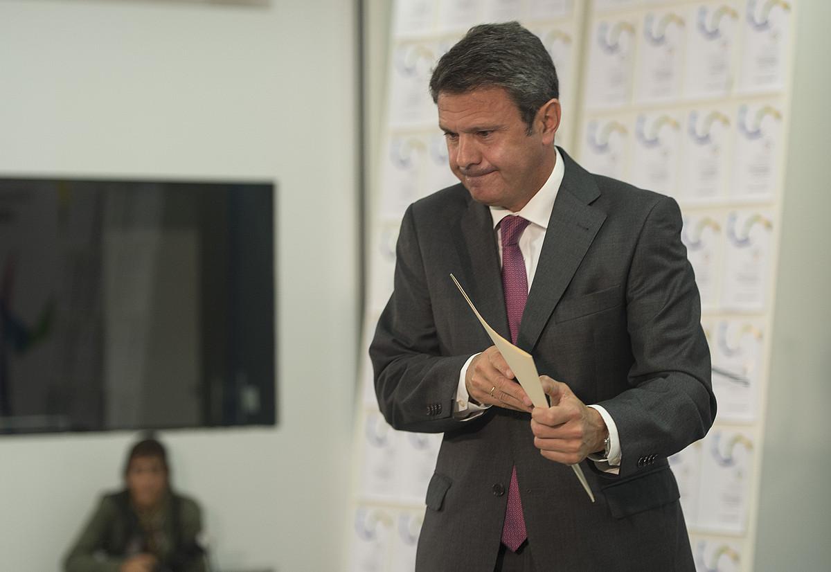 Jose Antonio Santano PSE-EEko kide eta Irungo alkatea, duela lau urte, Bilbon. ©MONIKA DEL VALLE / FOKU