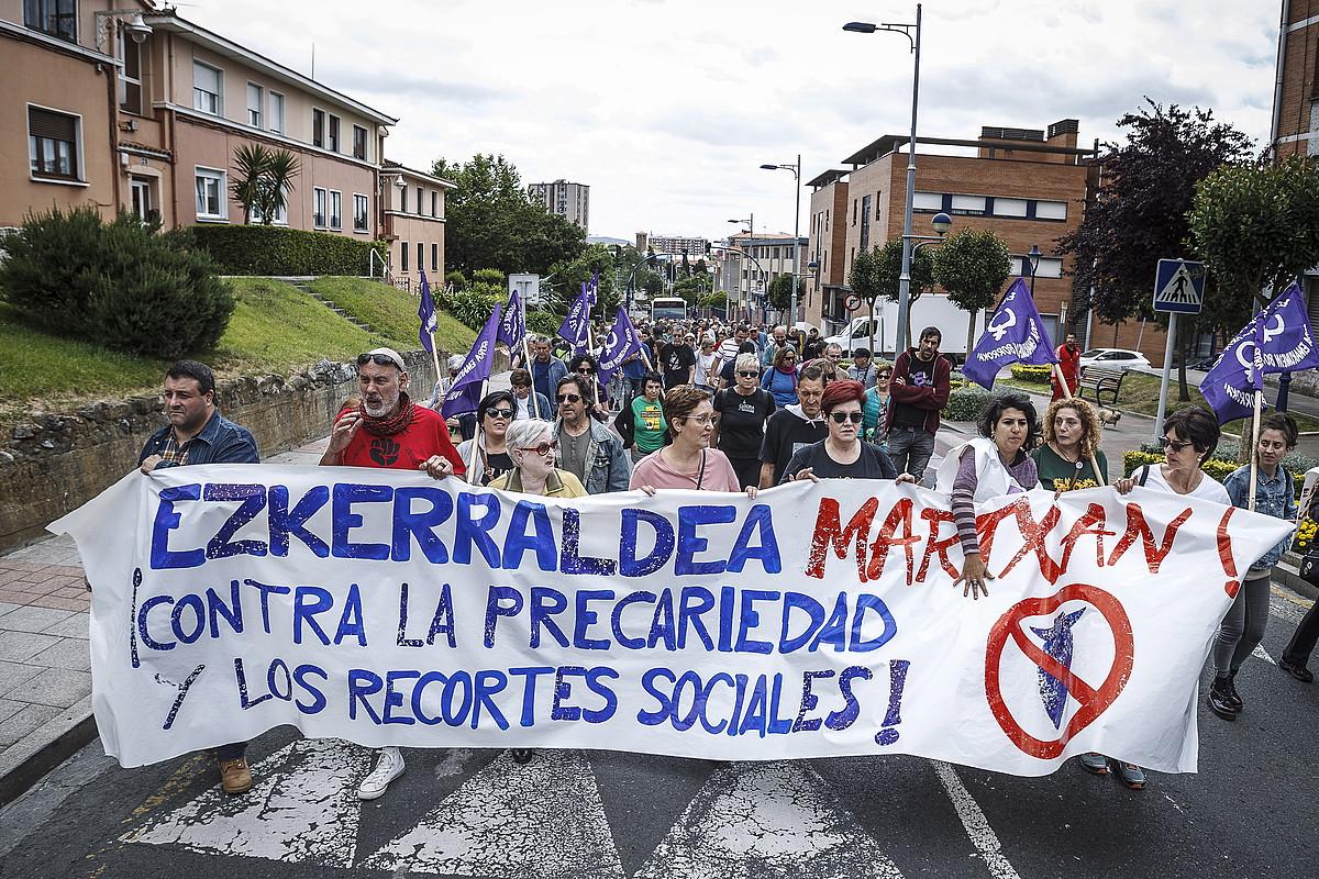Sestaotik abiatu zen Ezkerraldea Martxan protesta. ©ARITZ LOIOLA / FOKU