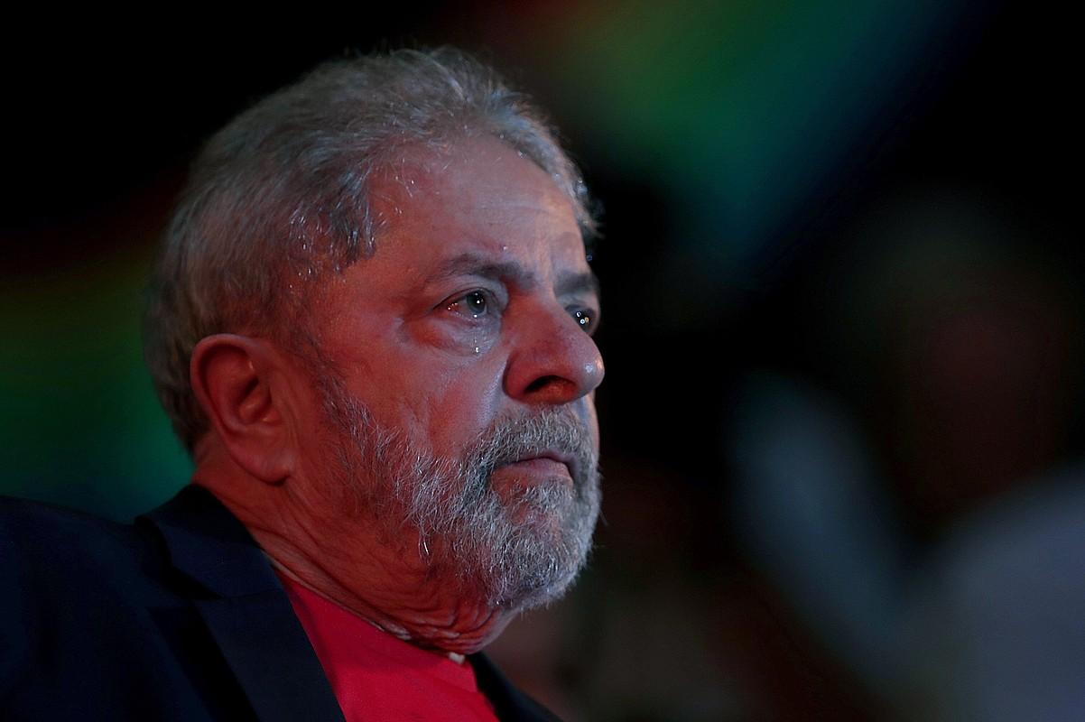 <em>Lula</em> Brasilgo presidente ohia Sao Paulo hirian, iaz, hari babesa emateko egindako ekitaldi batean.