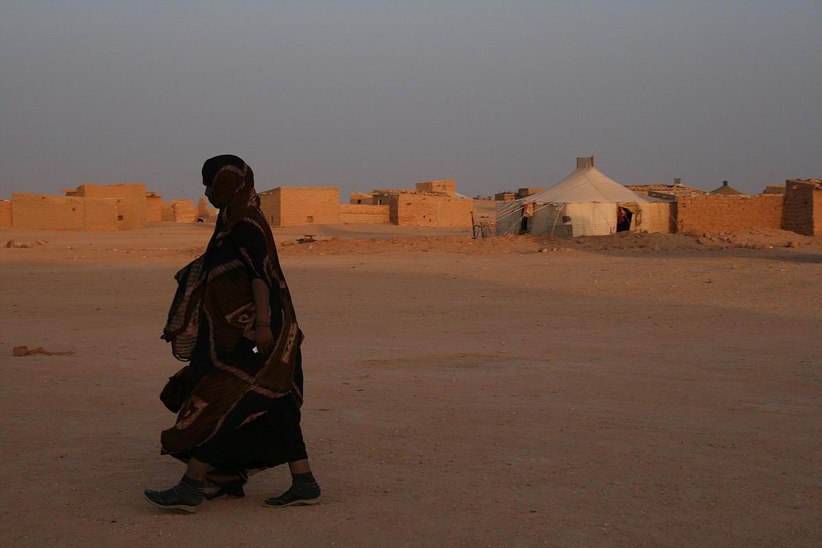 Emakume saharar bat, Hausan. Tindufeko Smara wilayan dagoen daira da Hausa. ©KRISTINA BERASAIN