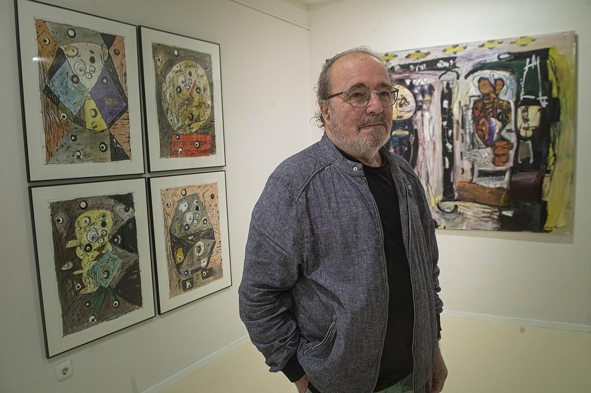 Jose Luis Zumeta, atzo, Donostiako Ekain galerian. ©JON URBE / FOKU