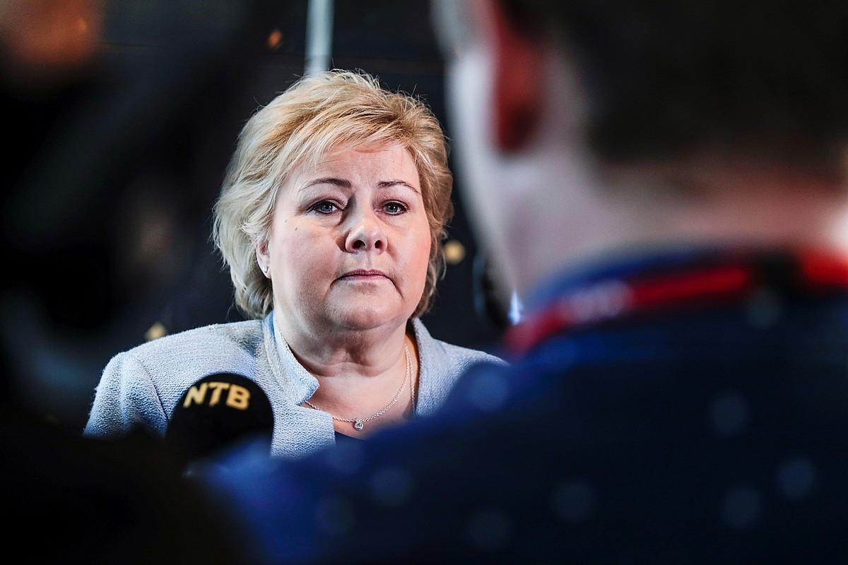 Erna Solberg Norvegiako lehen ministroa, artxiboko irudi batean. ©HAKON MOSVOLD LARSEN / EFE