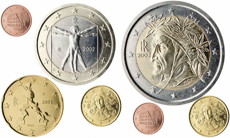 Euro txanponak, Italiako irudiekin.