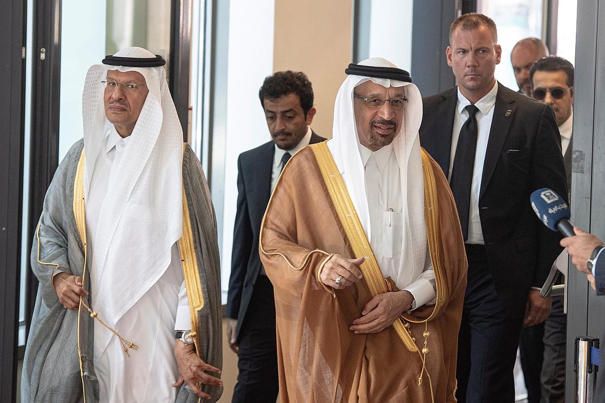 Saudi Arabiako petrolio ministro Khalid al Falih, atzo, Vienan. ©CHRISTIAN BRUNA / EFE