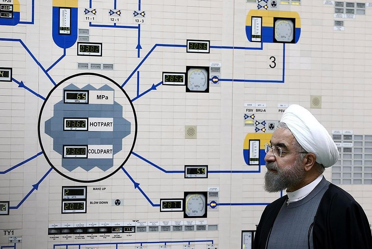 Hassan Rohani Irango presidentea zentral nuklear bat bisitatzen, artxiboko irudi batean. ©IRANGO PRESIDENTETZA / EFE