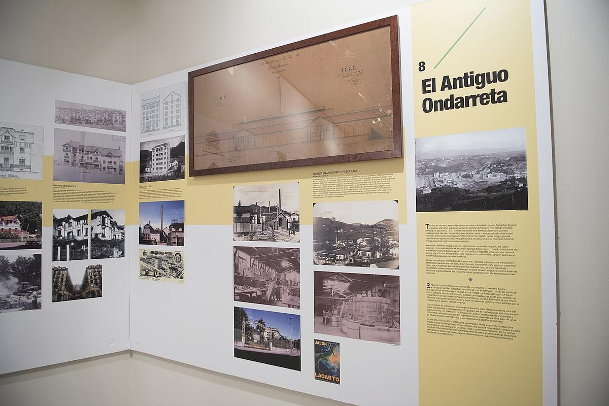 Eraitsitako zenbait eraikinen erretratuak <em>Galdu genuen hiria</em> erakusketan. ©JUAN CARLOS RUIZ / FOKU