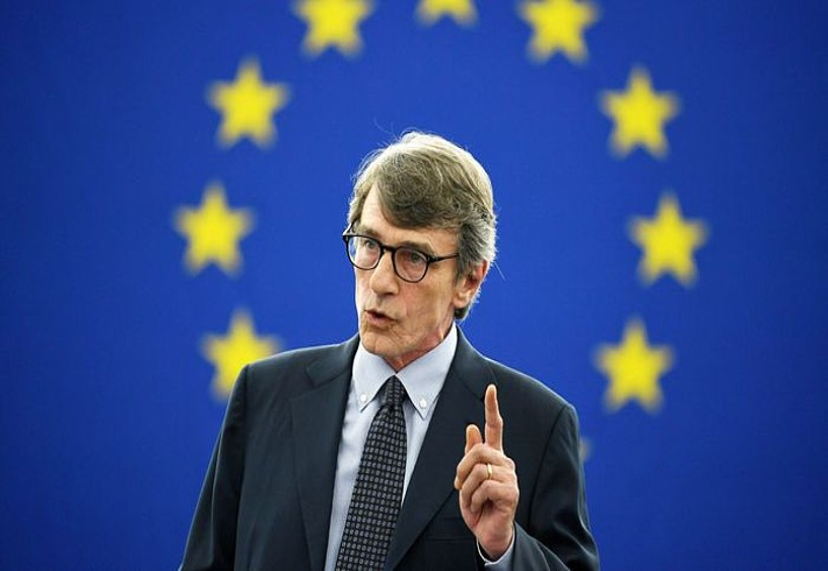 David-Maria Sassoli, atzo, Europako Parlamentuan. ©PATRICK SEEGER / EFE