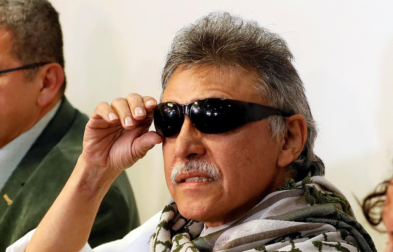 Santrich FARC gerrillaren buruzagi ohia, iragan maiatzaren 30ean, kartzelatik atera zutenean.