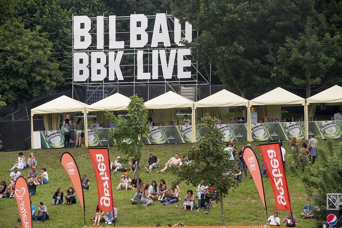 BBK Live jaialdiko txosnak, artxiboko irudi batean. ©MONIKA DEL VALLE / FOKU
