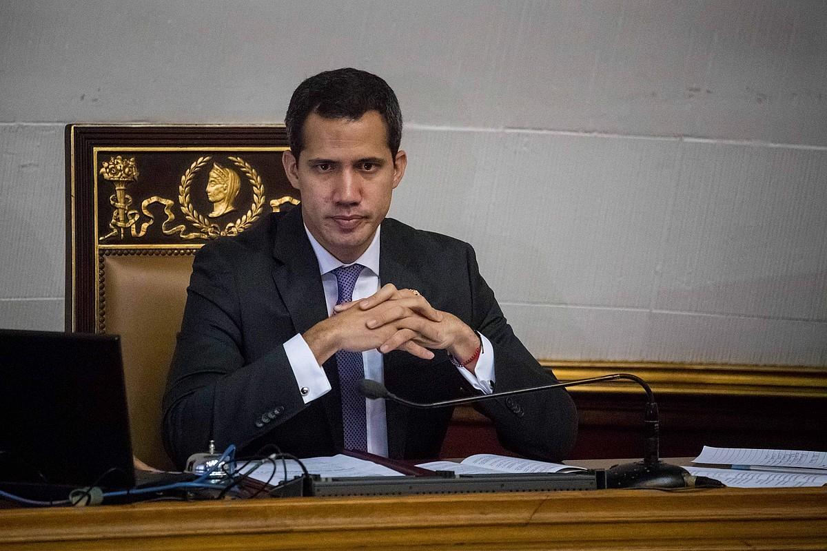 Juan Guaido oposizioaren buruzagia Venezuelako Parlamentuan, Caracasen, joan den asteartean. ©MIGUEL GUTIERREZ / EFE