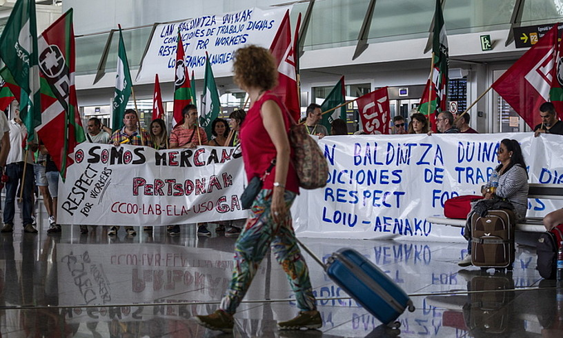 Langileen protesta joan den igandeko greban. ©ARITZ LOIOLA / FOKU