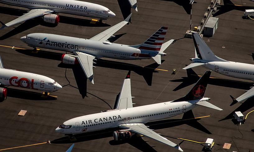 Boeing 737 MAX hegazkinak, Rentoneko (Washington, AEB) Boeingen fabrikan. ©GARY HE / EFE