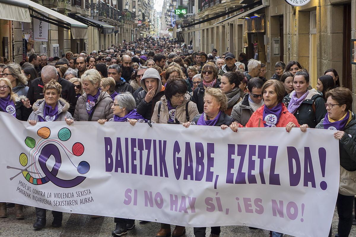 Indarkeria matxistaren aurkako protesta bat Donostian. ©A. CANELLADA / FOKU