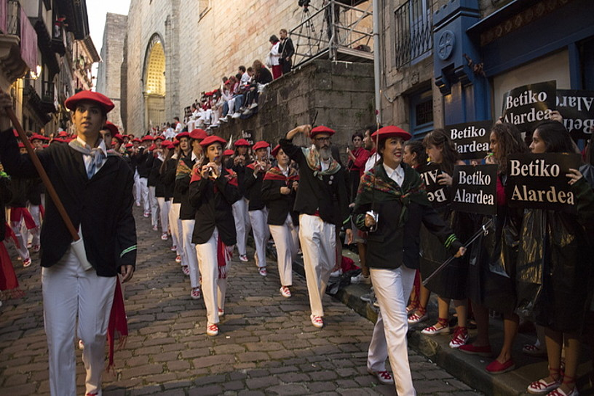 Tentsio handia izan zen iaz Jaizkibelen desfilean. ©JUAN CARLOS RUIZ / FOKU