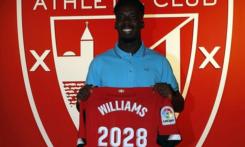 Iñaki Williams, atzo.