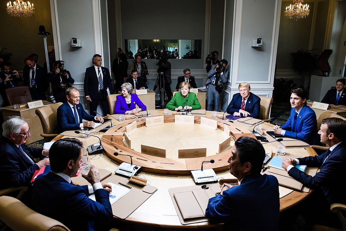 G7koen azken bilera, 2018ko ekainean, Quebecen. / CLEMENS BILLAN / EFE