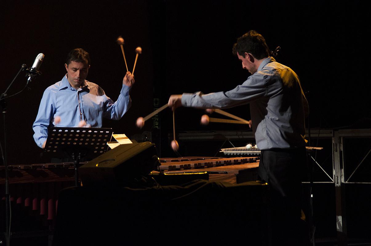 Synergein Project perkusio taldea ostiralean ariko da. ©MUSIKA HAMABOSTALDIA