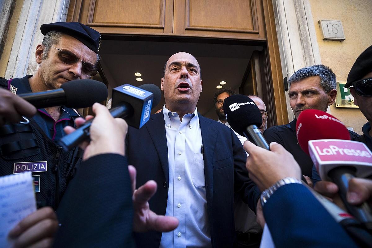 Nicola Zingaretti PD alderdiko buruak beren proposamena aurkeztu zien atzo hedabideei, Erroman. ©ANGELO CARCONI / EFE