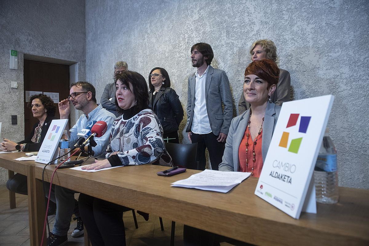 Aldaketa Espainiako Senaturako zerrendaren aurkezpena, martxoaren 9an. ©JON URBE / FOKU