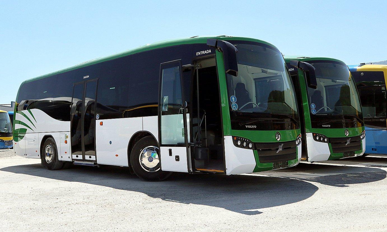 Sunsundeguik uztailaren amaieran Transporte Insular La Palma enpresari entregatutako autobusak —Volvoren txasisa dute—.